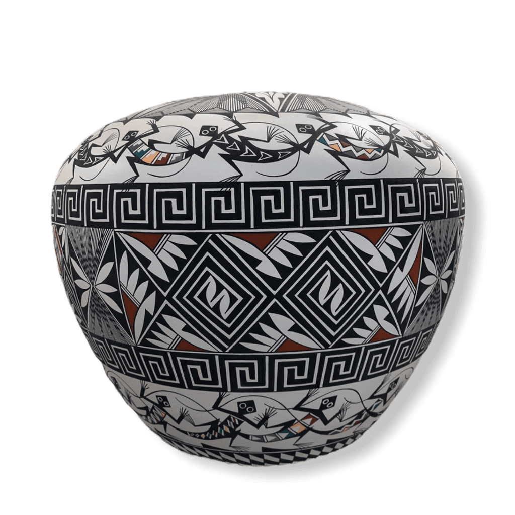 Acoma Pueblo Lizard Pot-Large