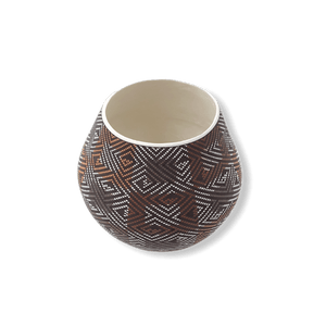 Acoma Square Design Pattern Pot by Frederica Antonio