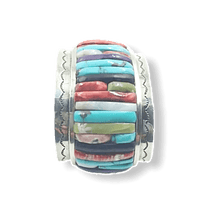 Load image into Gallery viewer, Carlos Eagle Wide Cobble Stone Bracelet