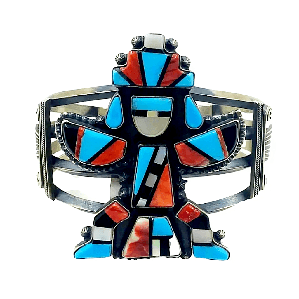 Freddie Maloney Inlay Kachina Bracelet -Navajo