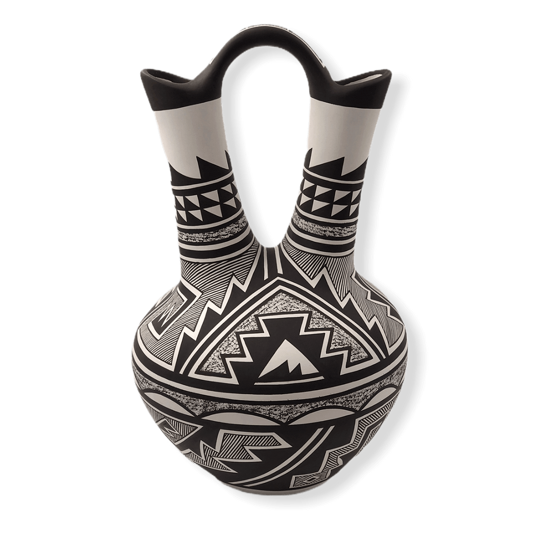Hand Painted Wedding Vase-Navajo