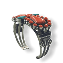 Load image into Gallery viewer, High Grade Coral Navajo Pawn Bracelet