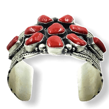 Load image into Gallery viewer, High Grade Navajo Coral Bracelet -Wide