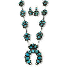 Load image into Gallery viewer, Kingman Turquoise Long Naja Necklace