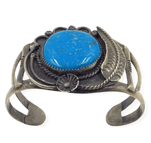 Load image into Gallery viewer, Kingman Turquoise Navajo Pawn Bracelet