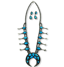 Load image into Gallery viewer, Kingman Turquoise Necklace Bobby Johnson -Navajo