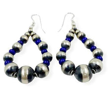 Load image into Gallery viewer, Lapis Navajo Pearl Earrings