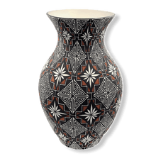 Load image into Gallery viewer, Large Acoma Pueblo Flower Pattern Vase