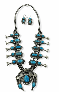 Large Kingman Turquoise Navajo Necklace
