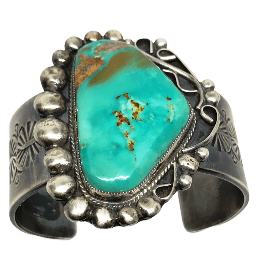 Large Navajo Pawn Royston Turquoise Cuff