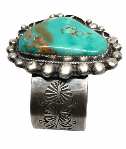 Image of Large Navajo Pawn Royston Turquoise Cuff