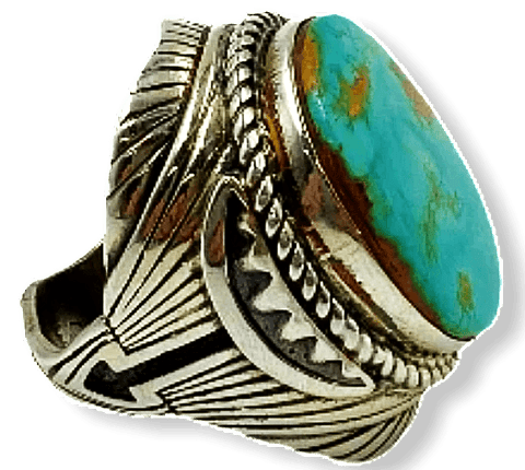 Image of Large Navajo Royston Turquoise Ring