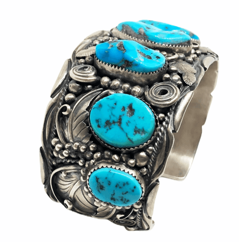 Image of Large Navajo Sleeping Beauty Turquoise Cuff