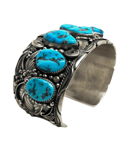 Large Navajo Sleeping Beauty Turquoise Cuff