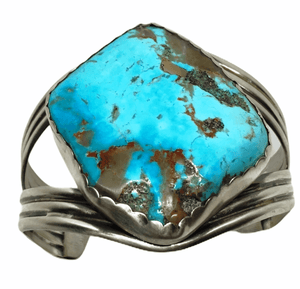 SOLD Large Kingman Turquoise Brace