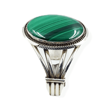 Load image into Gallery viewer, Large Stone Navajo Malachite Bracelet