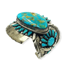 Load image into Gallery viewer, Large Stone Turquoise Pawn Bracelet