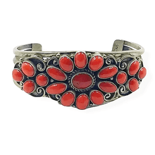 Load image into Gallery viewer, Lee Bennett Navajo Coral Bracelet