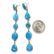 Load image into Gallery viewer, SOLD Long Navajo Turquoise Mountain Earrings