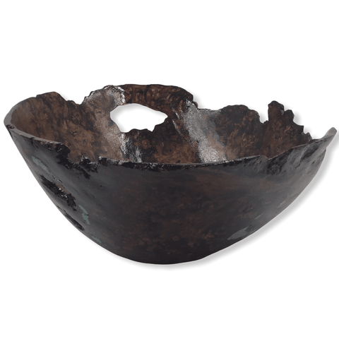 Image of Madrone Burl Wood Turned Vessel By R. Barela