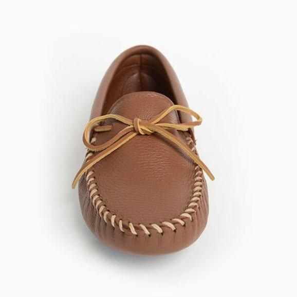 Men's Double Deerskin Softsole Moccasins Carmel 818