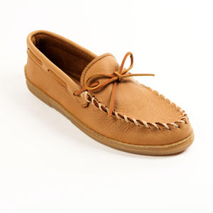 Minnetonka Men's Moosehide Classic Moccasins Natural 890