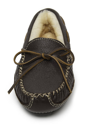 Men's Sheepskin Moose Moccasin Chocolate 3752