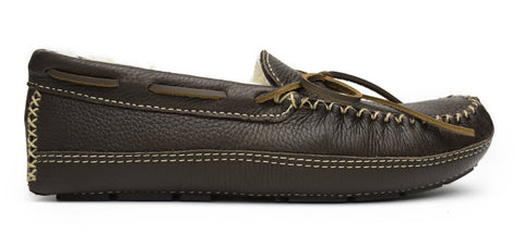 Image of Men's Sheepskin Moose Moccasin Chocolate 3752