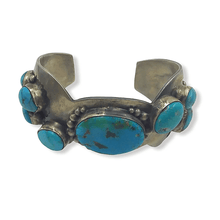 Load image into Gallery viewer, Multi  Stone Navajo Turquoise Pawn Bracelet