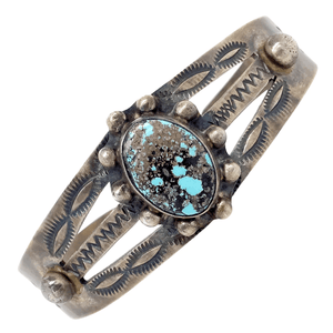 Native American Bracelet - Corn Maiden's Delight Pawn Turquoise Bracelet - B. Johnson Navajo