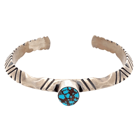 Image of Native American Bracelet - Extra Large Navajo Men's Turquoise Pawn Cuff Bracelet