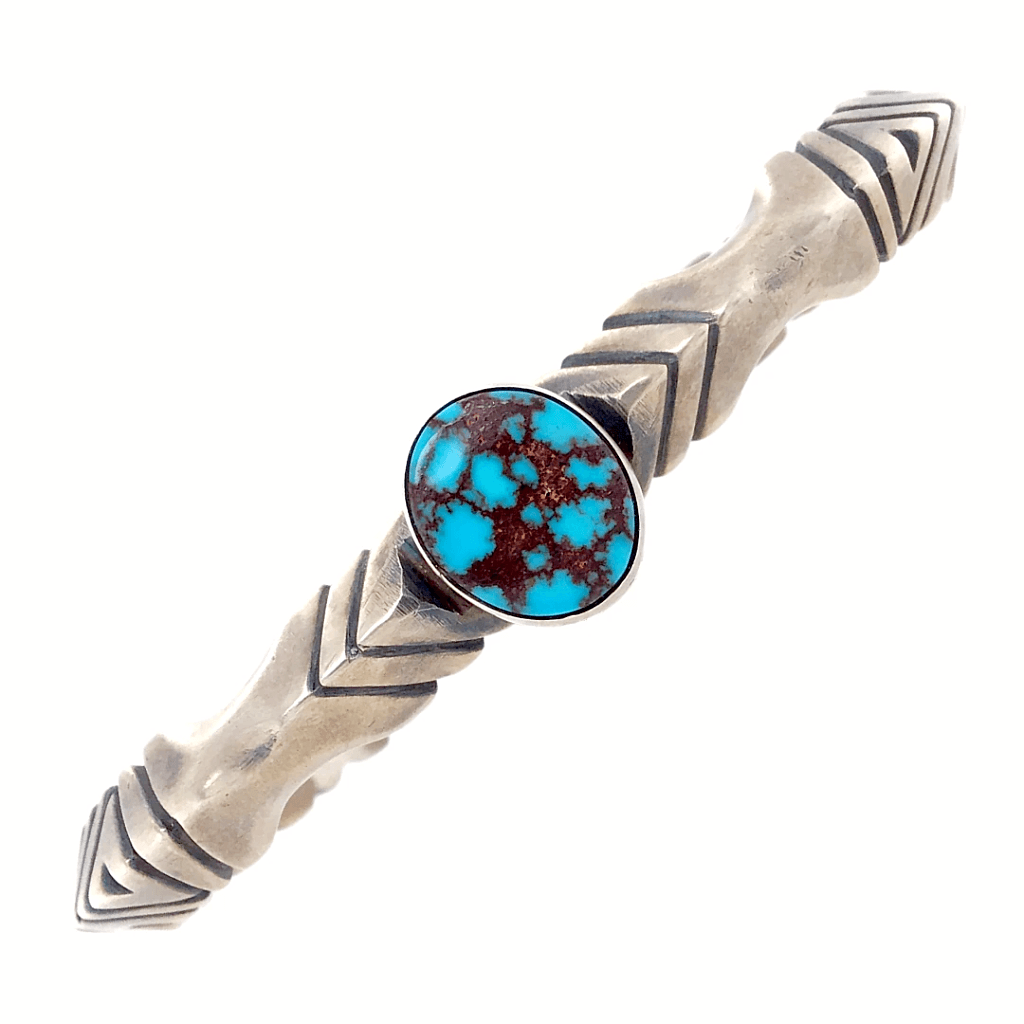 Native American Bracelet - Extra Large Navajo Men's Turquoise Pawn Cuff Bracelet