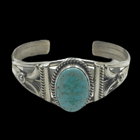 Image of Native American Bracelet - Handcrafted Navajo Turquoise Bracelet