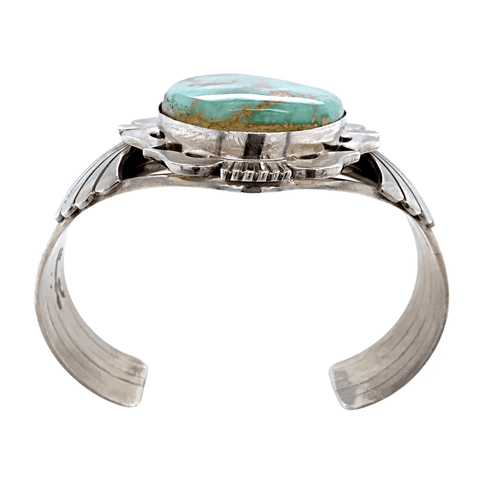 Image of Native American Bracelet - Large Show-Stopping Navajo Royston Sterling Silver Bracelet - Mary Ann Spencer