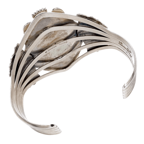 Native American Bracelet - Large Show-Stopping Navajo Royston Sterling Silver Bracelet - Mary Ann Spencer
