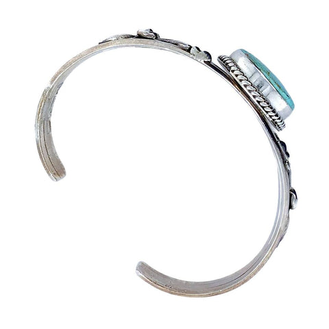 Image of Native American Bracelet - Navajo #8 Turquoise Sterling Silver Bracelet - Mary Ann Spencer - Native American