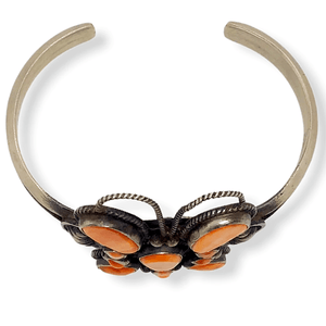 Native American Bracelet - Navajo Butterfly Bracelet With Spiny Oyster -Dean Brown