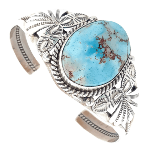Image of Native American Bracelet - Navajo Empress Golden Hills Embellished Turquoise Bracelet - Mary Ann Spencer