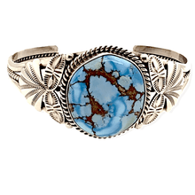 Load image into Gallery viewer, Native American Bracelet - Navajo Golden Hills Turquoise Bracelet With Silver Side Stamping