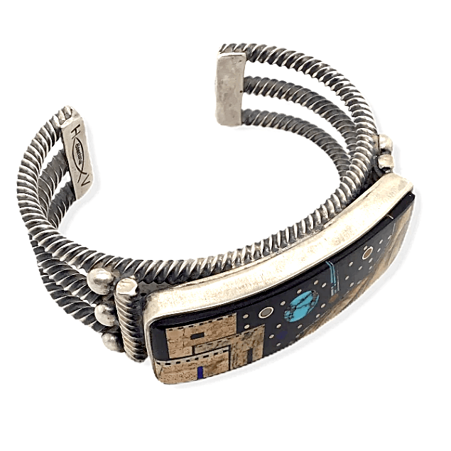 Native American Bracelet - Navajo Micro Inlay Night Sky Bracelet