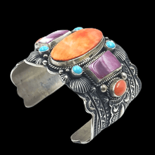 Load image into Gallery viewer, Navajo Multi-Color Bracelet Wide Cuff