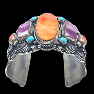 Navajo Multi-Color Bracelet Wide Cuff