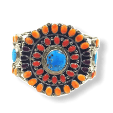 Load image into Gallery viewer, Navajo Multi-Color Cluster Bracelet