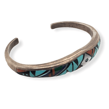 Load image into Gallery viewer, Native American Bracelet - Navajo Pawn Inlay Multi Color Bracelet