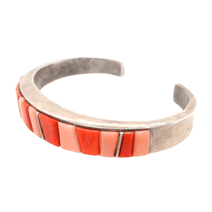 Native American Bracelet - Navajo Pawn Princess Red & Pink Coral Bracelet