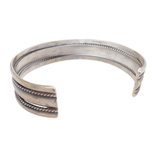 Load image into Gallery viewer, Native American Bracelet - Navajo Pawn Silver Braided Cuff