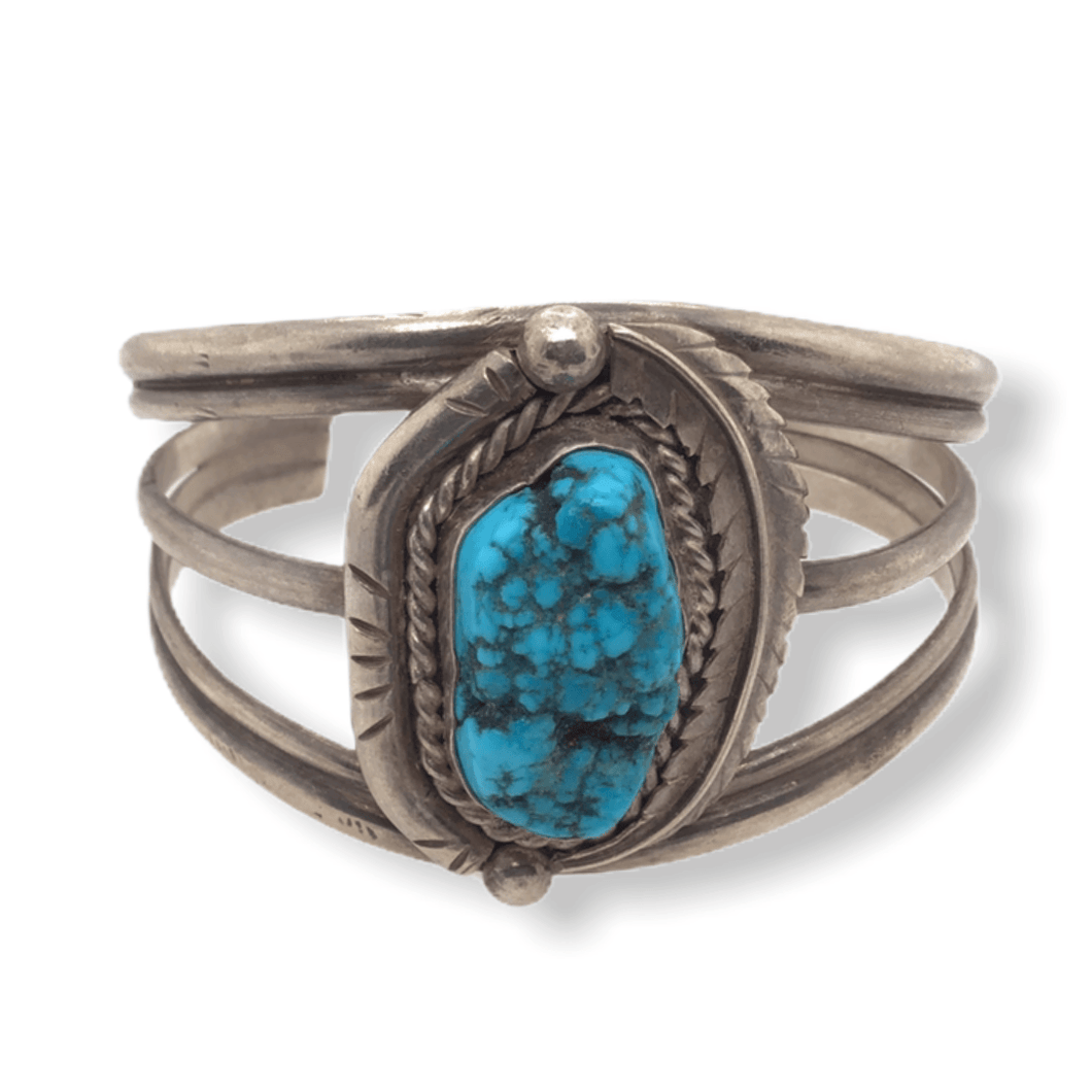 Native American Bracelet - Navajo Pawn Sleeping Beauty Turquoise Bracelet
