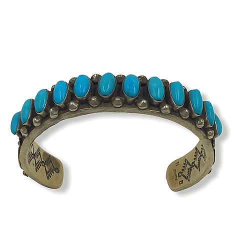 Image of Native American Bracelet - Navajo Pawn  Sleeping Beauty Turquoise Bracelet