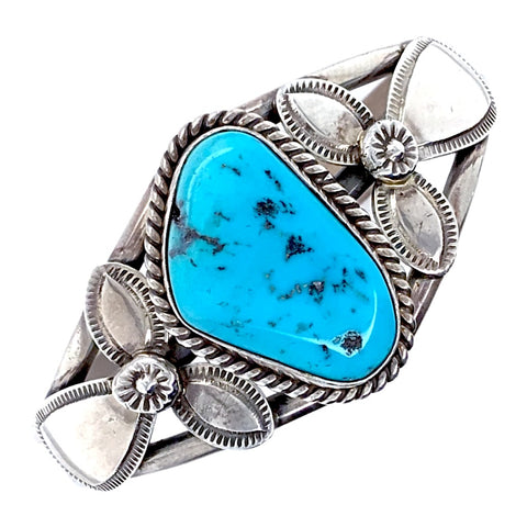 Image of Native American Bracelet - Navajo Sleeping Beauty Turquoise Sterling Silver Bracelet - Mary Ann Spencer