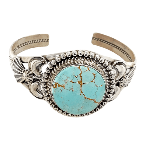 Image of Native American Bracelet - Navajo Sterling Silver  #8 Turquoise Bracelet - Mary Ann Spencer